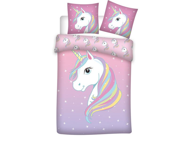 Unicorn Housse de couette Sparkle - Simple - 140 x 200 cm - Coton