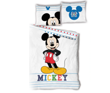 Disney Mickey Mouse Housse de couette 140 x 200 Bio Coton