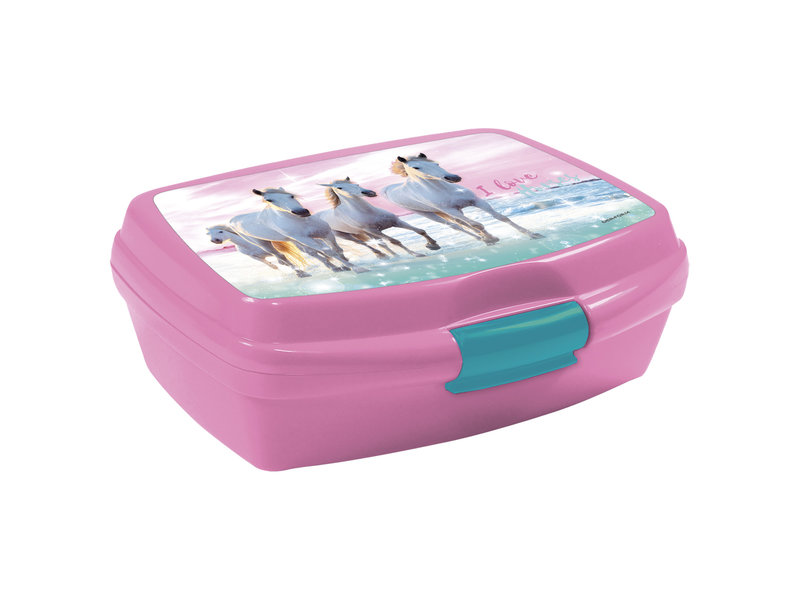 Animal Pictures Lunchbox I Love Horses - 16 x 11 x 6 cm - Polypropyleen