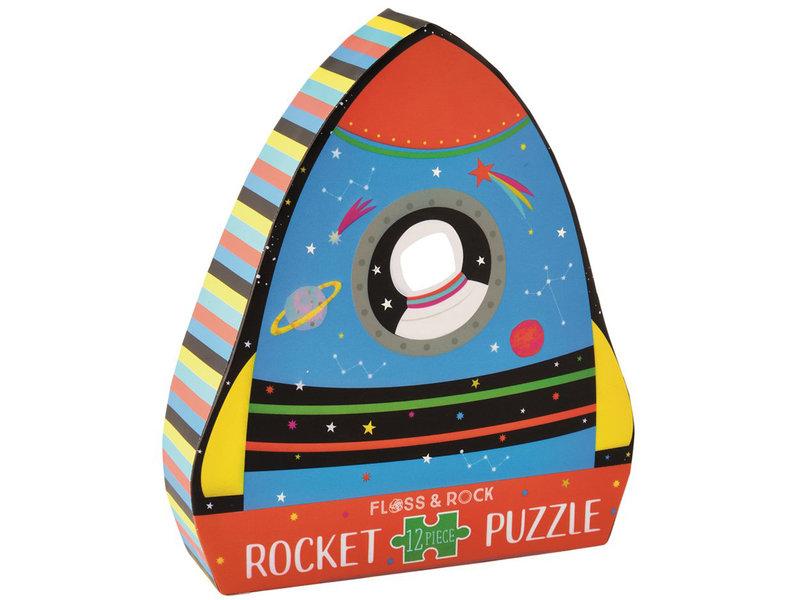 Floss & Rock Raket Puzzel 12 st. - 19 x 30 cm