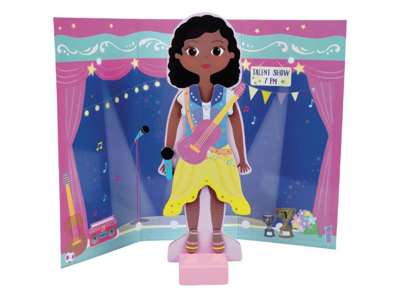 Floss & Rock Magnetic Dress up doll Zoey - 23.5 cm - Wood