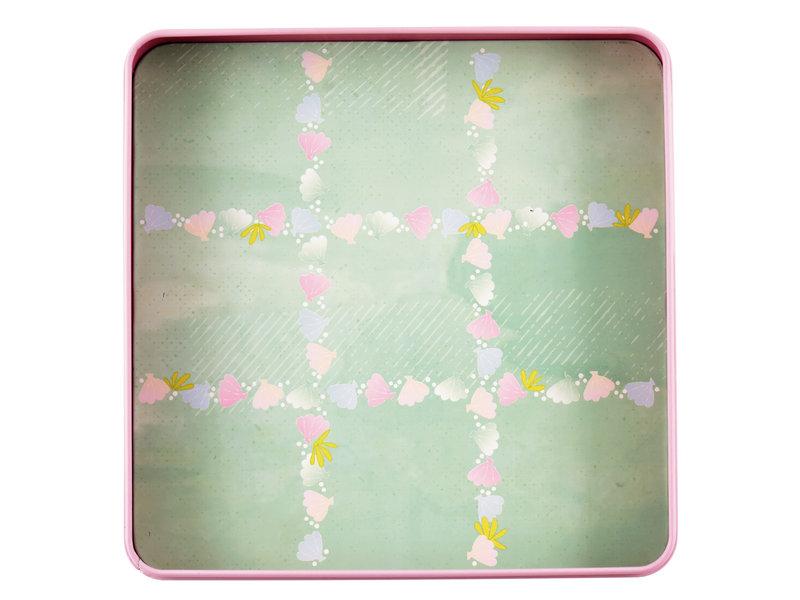 Floss & Rock Spelletjesdoos Zeemeermin 4-in-1 - 19,5 x 19,5 cm
