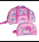 BlackFit8 Sports Bag Set Sloth - Sports Bag and Toilet Bag - Polyester
