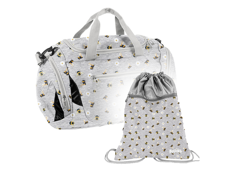 BeUniq Sports bag Set Bees - Sports bag and Gymbag - Polyester