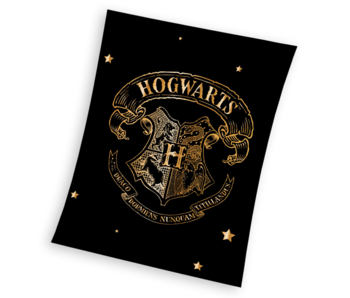 Harry Potter Fleece blanket Hogwarts Gold 150 x 200 cm