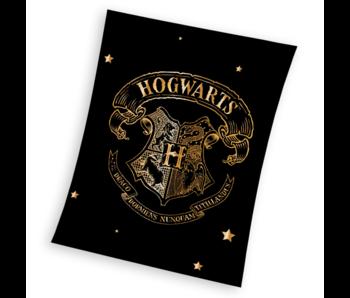 Harry Potter Fleece deken Hogwarts Goud 150 x 200 cm