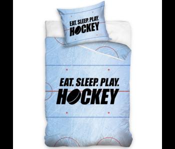 Hockey Housse de couette Manger Dormir Jouer au Hockey 140 x 200 Coton