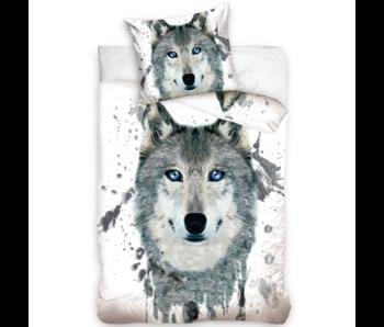 Animal Pictures Dekbedovertrek Wolf 140 x 200 Katoen