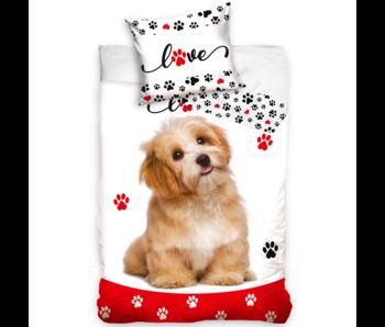 Animal Pictures Dekbedovertrek Hond Love 140 x 200 Katoen