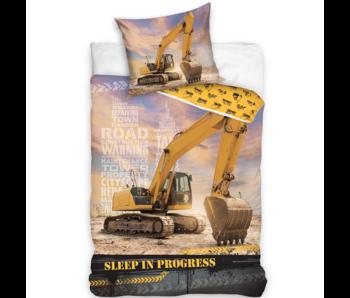 Graafmachine Dekbedovertrek Sleep in Progress 140 x 200 Katoen