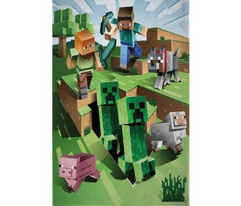 Minecraft Couverture polaire Build 130 x 170 cm