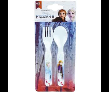 Disney Frozen Couverts Cuillère et Fourchette - Polypropylène