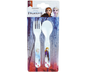 Disney Frozen Cutlery Spoon and Fork - Polypropylene