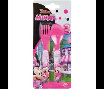 Disney Minnie Mouse Couverts Cuillère et Fourchette - Polypropylène