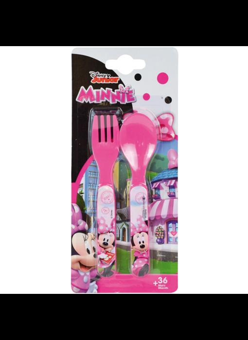 Disney Minnie Mouse Bestek Lepel en Vork - Polypropyleen