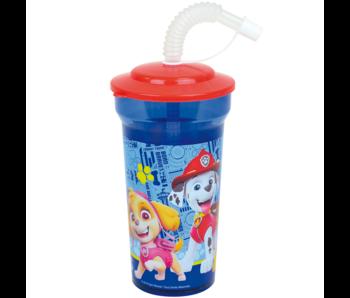 PAW Patrol Trinkflasche mit Strohhalm 400 ml