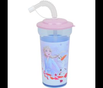 Disney Frozen Trinkflasche mit Strohhalm 400 ml
