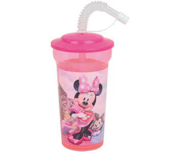 Disney Minnie Mouse Trinkflasche mit Strohhalm 400 ml