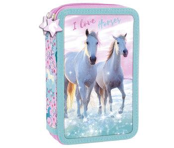 Animal Pictures Étui à crayons rempli I Love Horses - 27 pcs.
