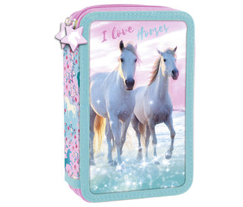 Animal Pictures Gevuld Etui I Love Horses - 27 st.