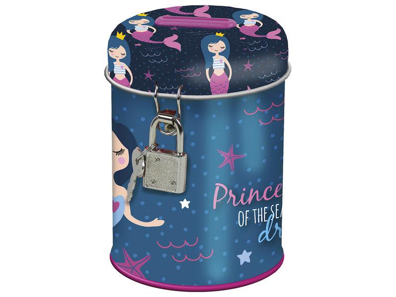 Zeemeermin Money box with lock Princess of the Sea - 11.5 x 7.5 cm - 2 keys