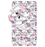 Disney Minnie Mouse Fitted sheet Unicorn Pink - Single - 90 x 200 cm - Cotton