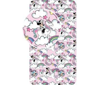 Disney Minnie Mouse Drap-housse Licorne Rose 90 x 200 cm Coton