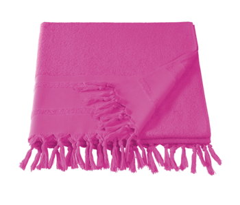 De Witte Lietaer Hammam beach towel with tassels Fjara fuchsia 100X180