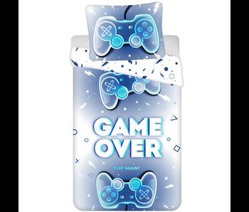 Gamer duvet cover Game Over 140 x 200 cm 70 x 90 cm cotton