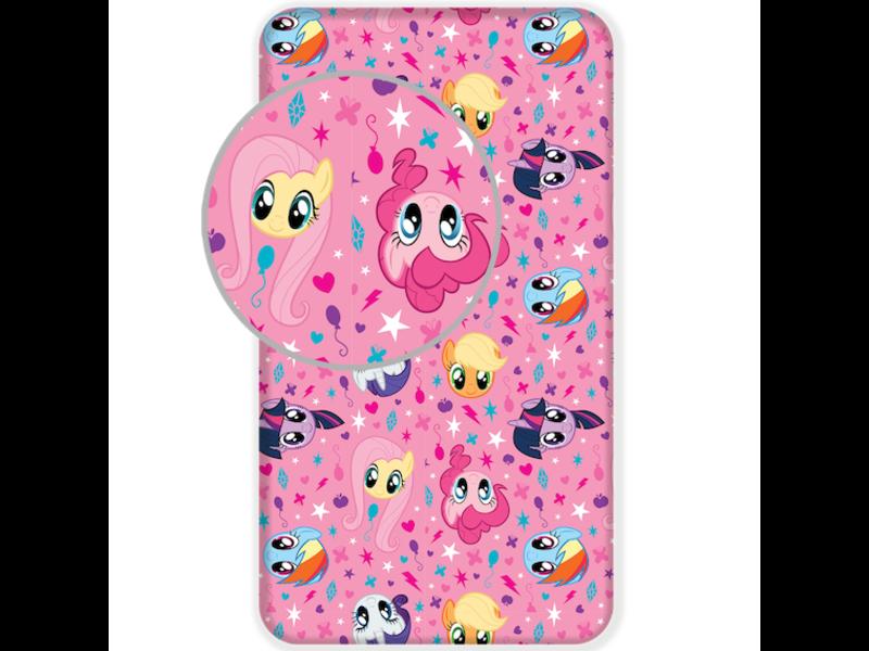 My Little Pony  Hoeslaken Roze - Eenpersoons - 90 x 200 cm - Katoen