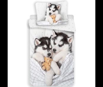 Animal Pictures housse de couette Husky 140 x 200 cm 70 x 90 cm coton