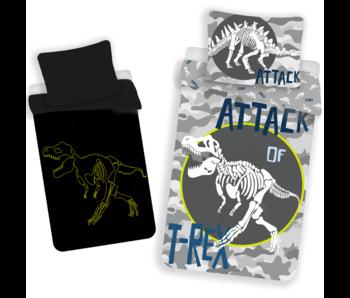 Dinosaurus Housse de couette T-Rex Glow in the Dark 140 x 200 Coton