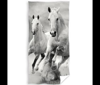 Animal Pictures Drap de plage Cheval Blanc 70 x 140 cm coton
