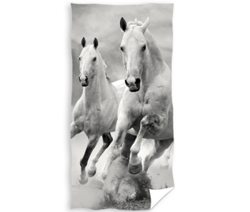 Animal Pictures Strandlaken Wit Paard 70 x 140 cm katoen