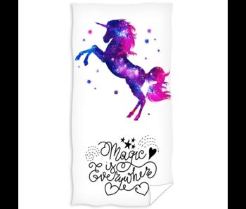 Unicorn Drap de plage 70 x 140 cm coton