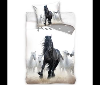 Animal Pictures Dekbedovertrek Fries Paard 140 x 200 Katoen