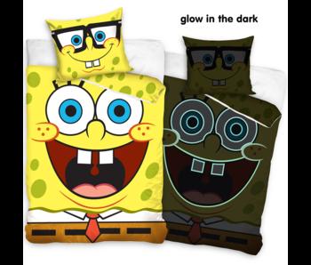 SpongeBob Housse de couette Glow in the Dark 140 x 200 cm Coton