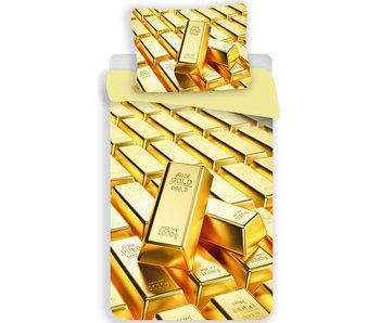 Goud Dekbedovertrek Gold Bars 140 x 200 Polyester