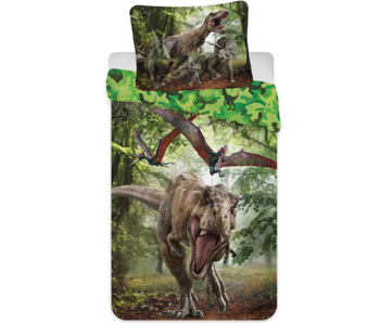 Jurassic World Housse de couette Forêt 140 x 200 Polyester