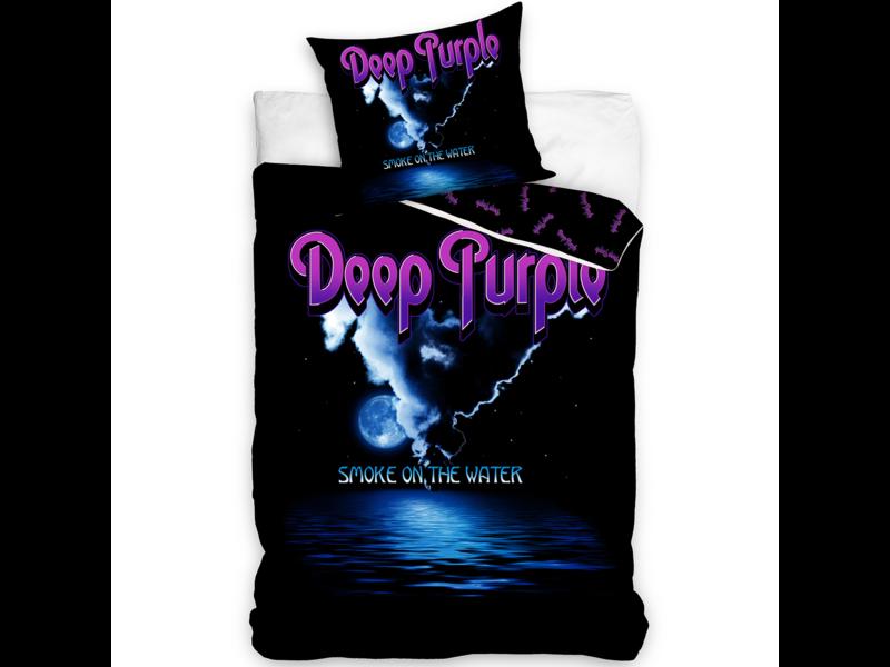 Deep Purple Housse de couette Smoke on the Water - Simple - 140 x 200 cm - Coton