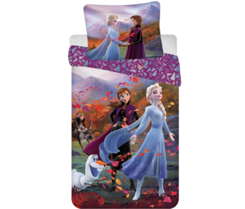 Disney Frozen Dekbedovertrek Wind 140 x 200 Katoen