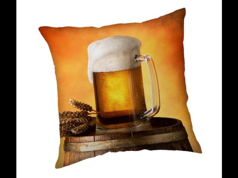 Bier Kussen Pul - 40 x 40 cm - Polyester