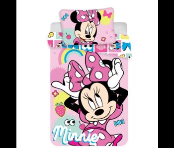 Disney Minnie Mouse Housse de couette BABY Noeud Rose 100 x 135 cm