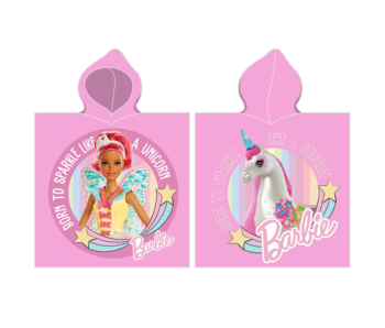 Barbie Poncho Unicorn 55 x 110 cm Katoen