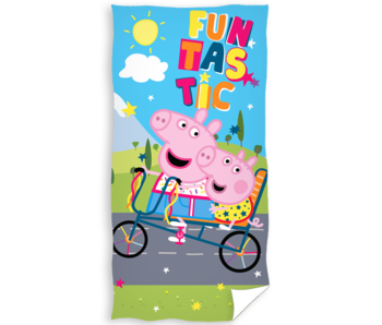 Peppa Pig Drap de plage Funtastic 70 x 140 cm Coton