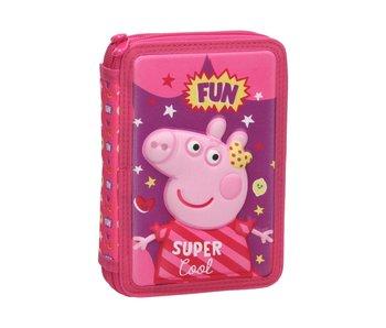 Peppa Pig Étui à crayons rempli Fun - 31 pcs.