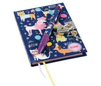 Floss & Rock Dagboek Cats & Dogs Inclusief Slot en Pen