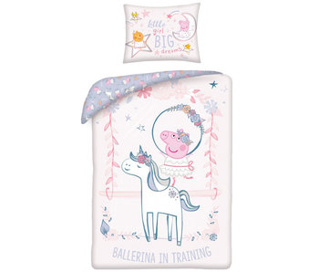 Peppa Pig BABY Bettbezug Ballerina 100 x 135 cm