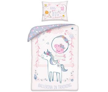 Peppa Pig BÉBÉ Housse de couette Ballerine 100 x 135 cm