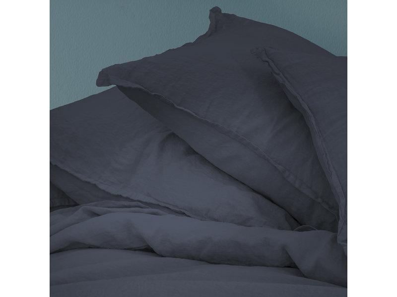 Matt & Rose Housse de couette Marine - Format hôtel - 260 x 240 cm + 2x 65 x 65 cm - 100% Lin